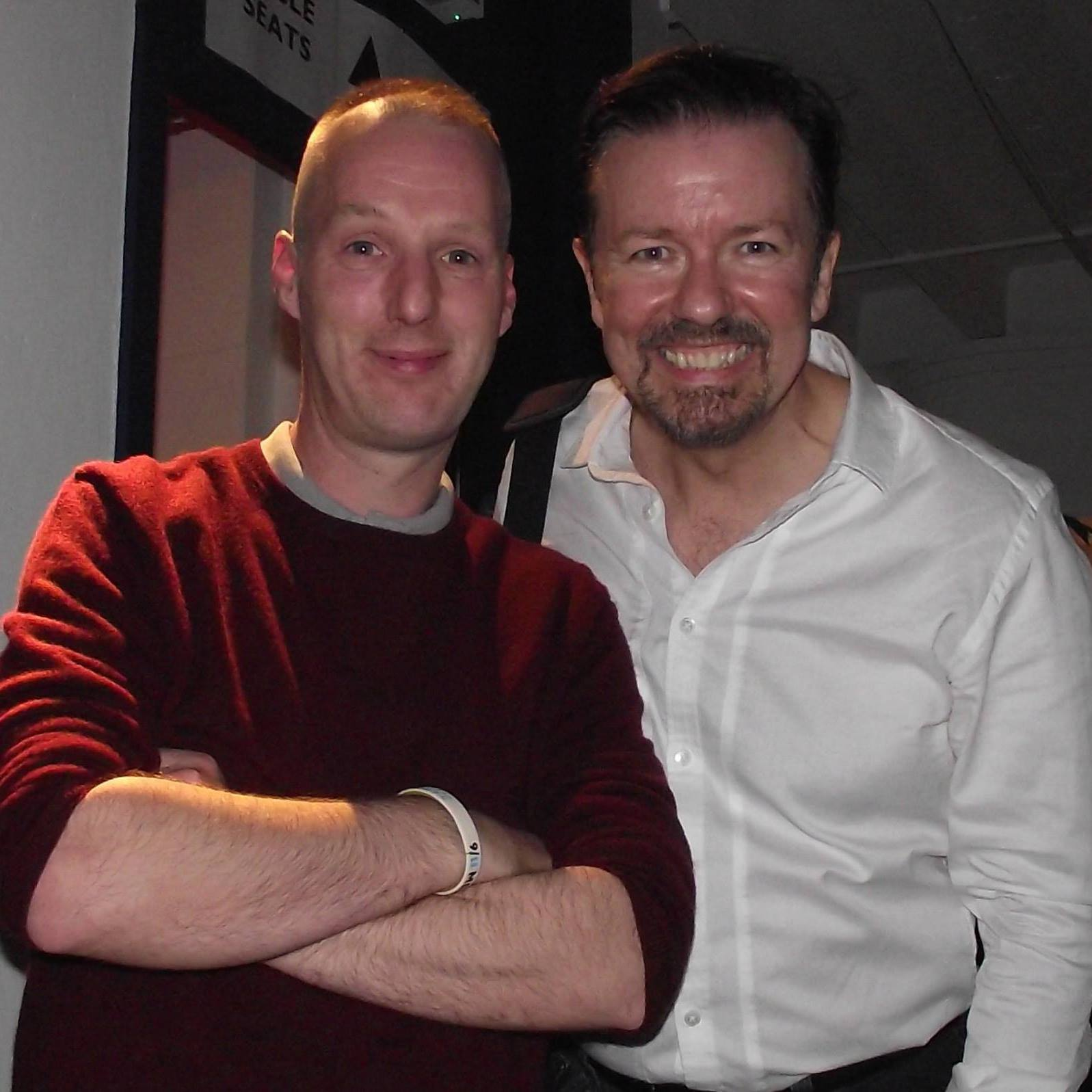 Ross Owen and Ricky Gervais