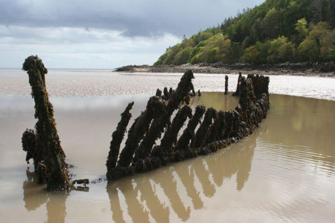 What used to be a schooner at Kirkcudbright (John McCarthy/Samphire Project)