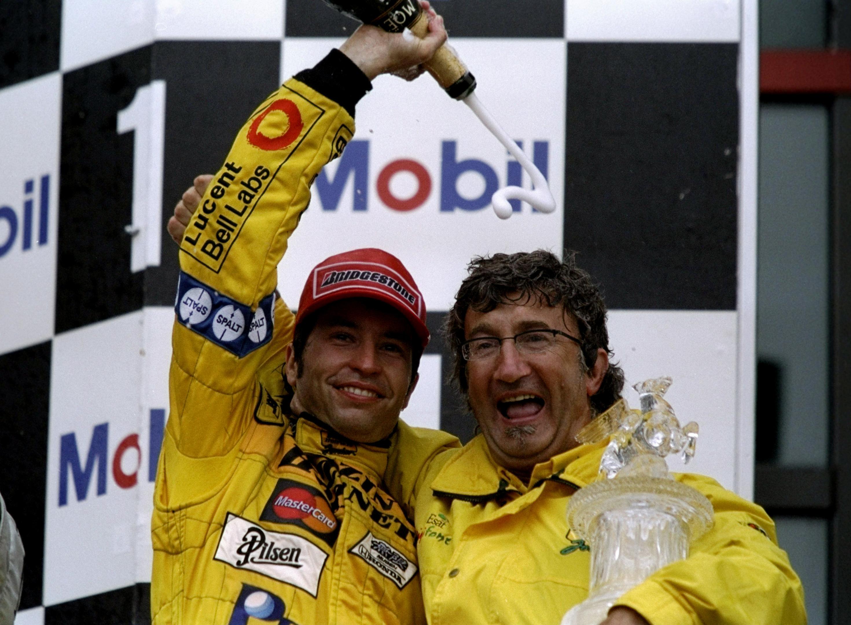 Heinz-Harald Frentzen and Eddie Jordan in 1999 (Michael Cooper /Allsport)