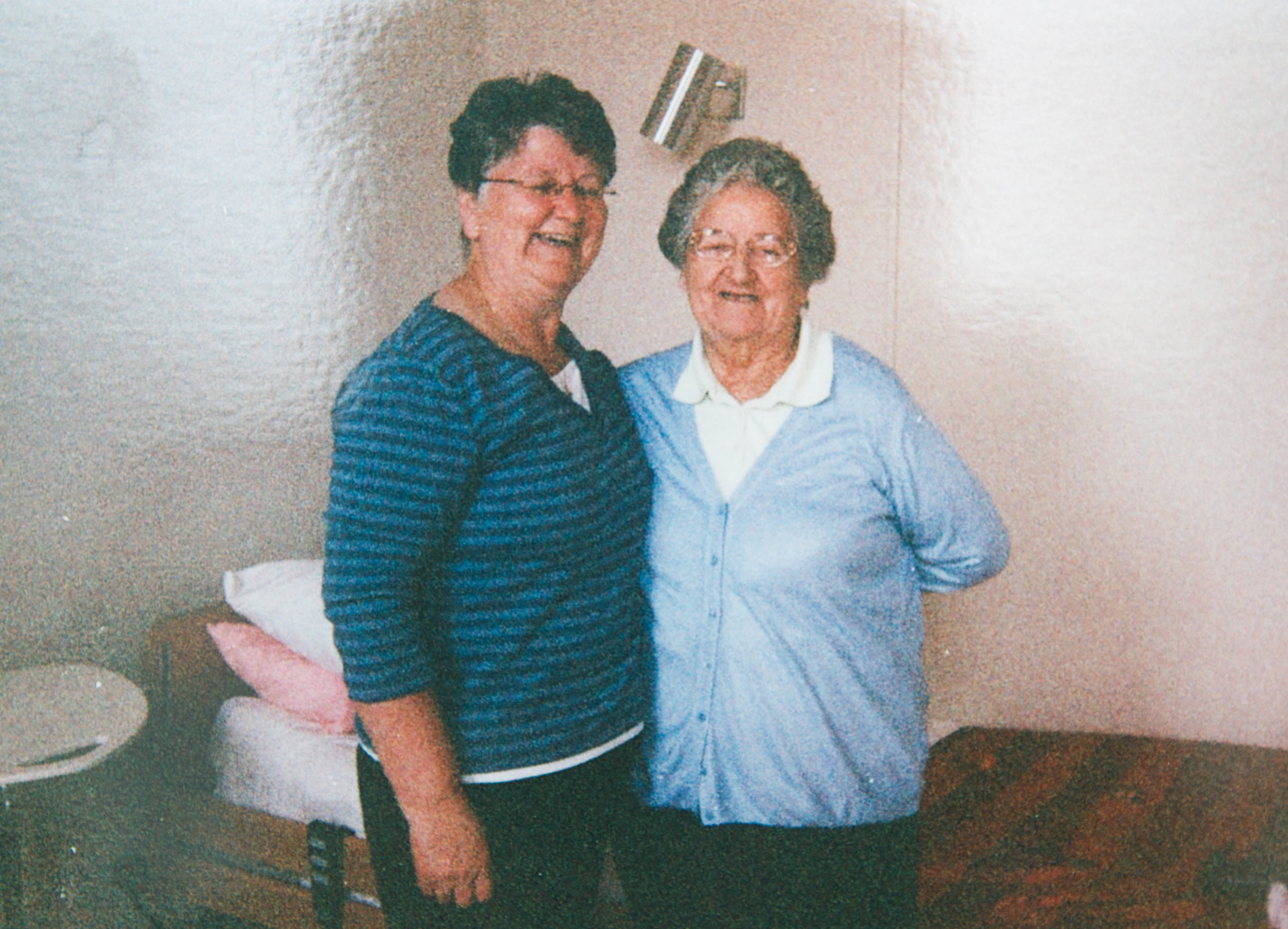 Josie (left) and mum Cathy, who died from dementia (C Austin/ Sunday Post)
