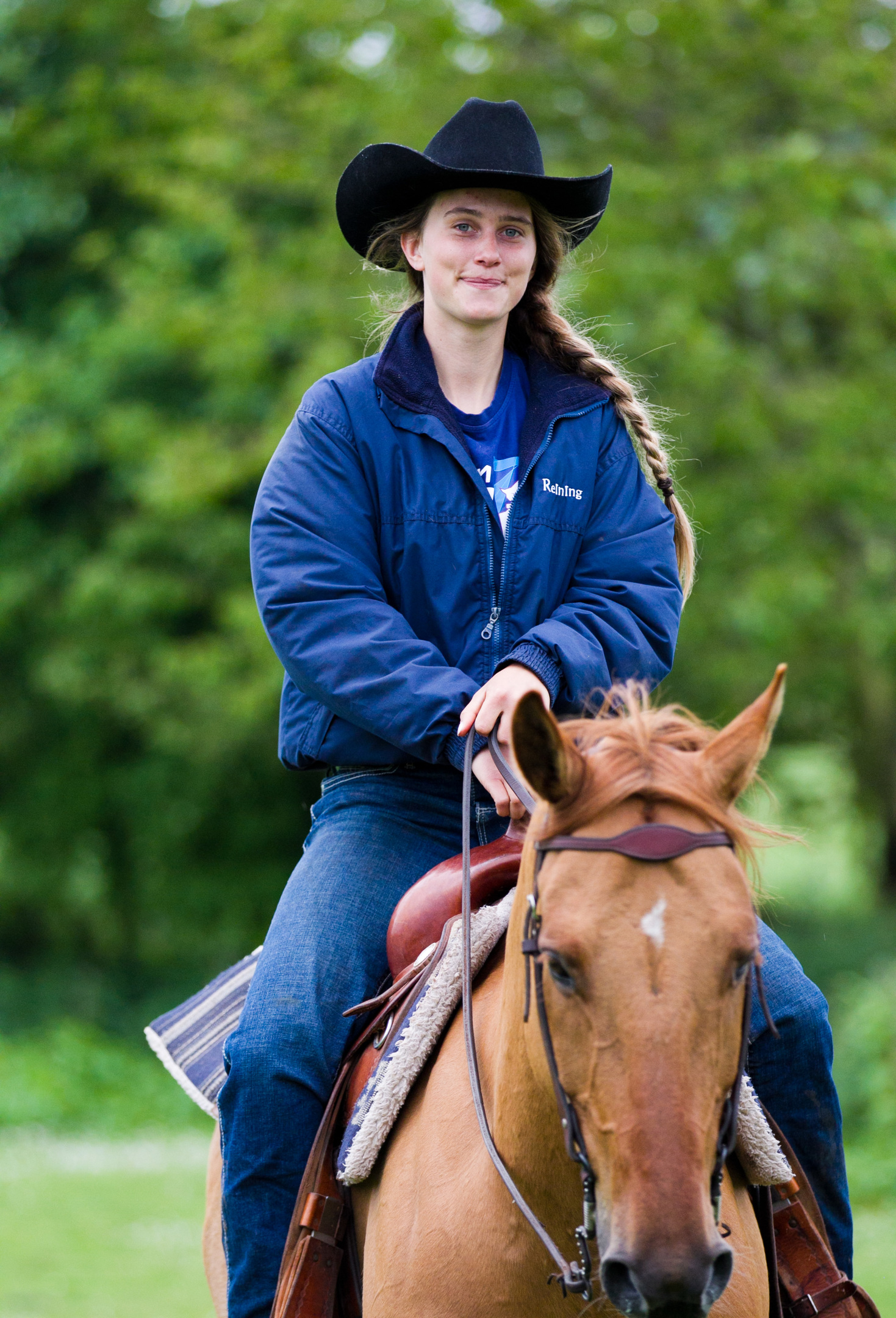 Olivia Lochhead who is going out to Australia to represent Great Britain in Western horse-riding competition (Andrew Cawley/ Sunday Post)
