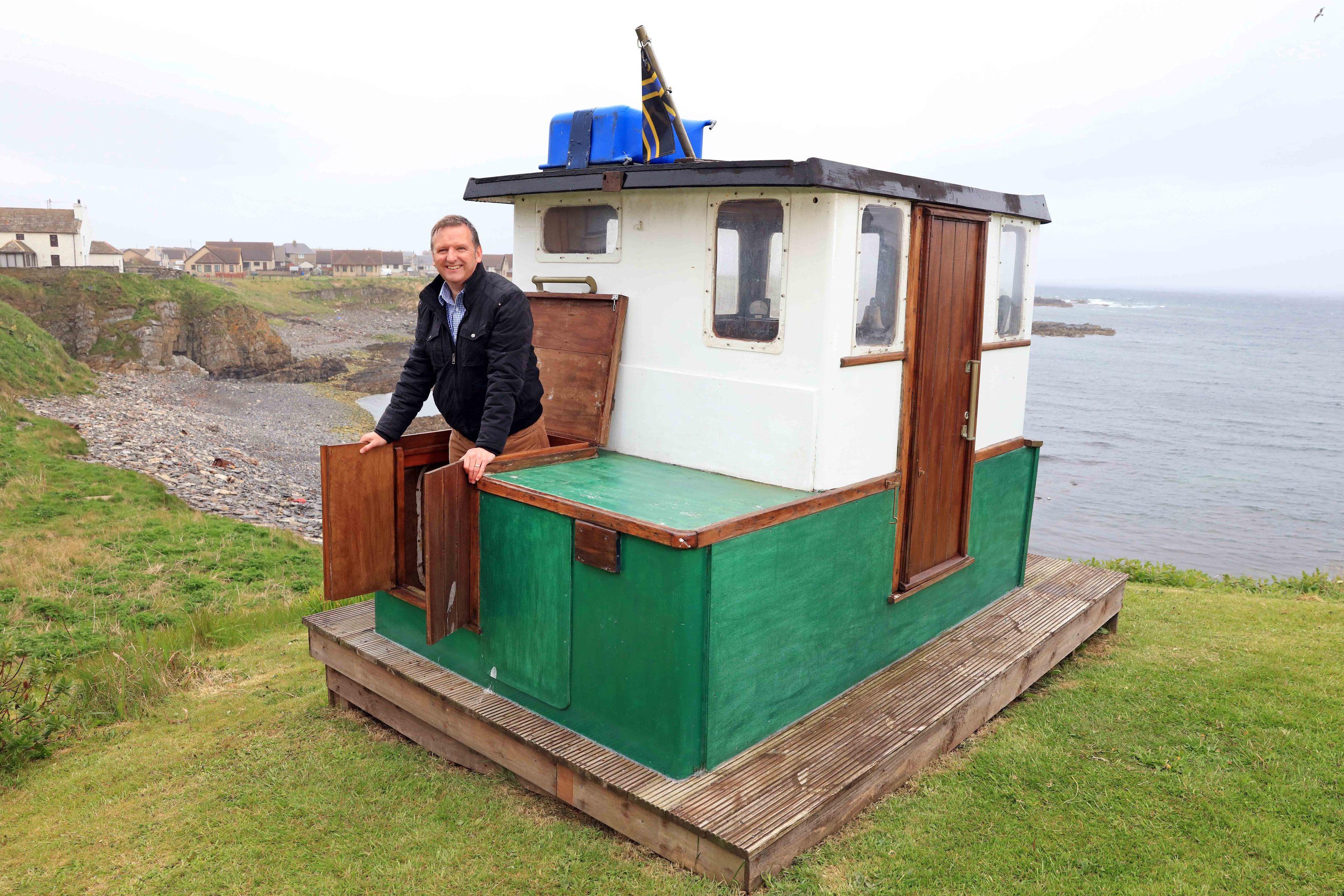 David Carter's nautical shed (Cuprinol/PA Wire)
