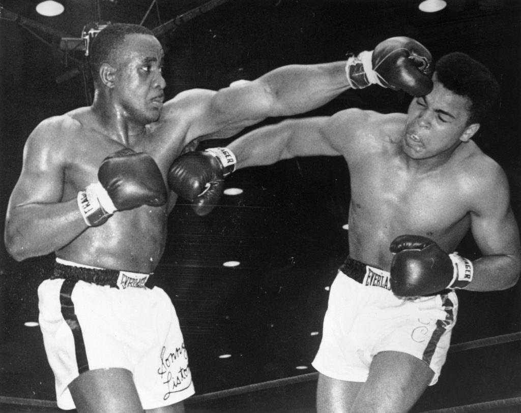 Cassius Clay v Sonny Liston, 1964 (Central Press/Getty Images)