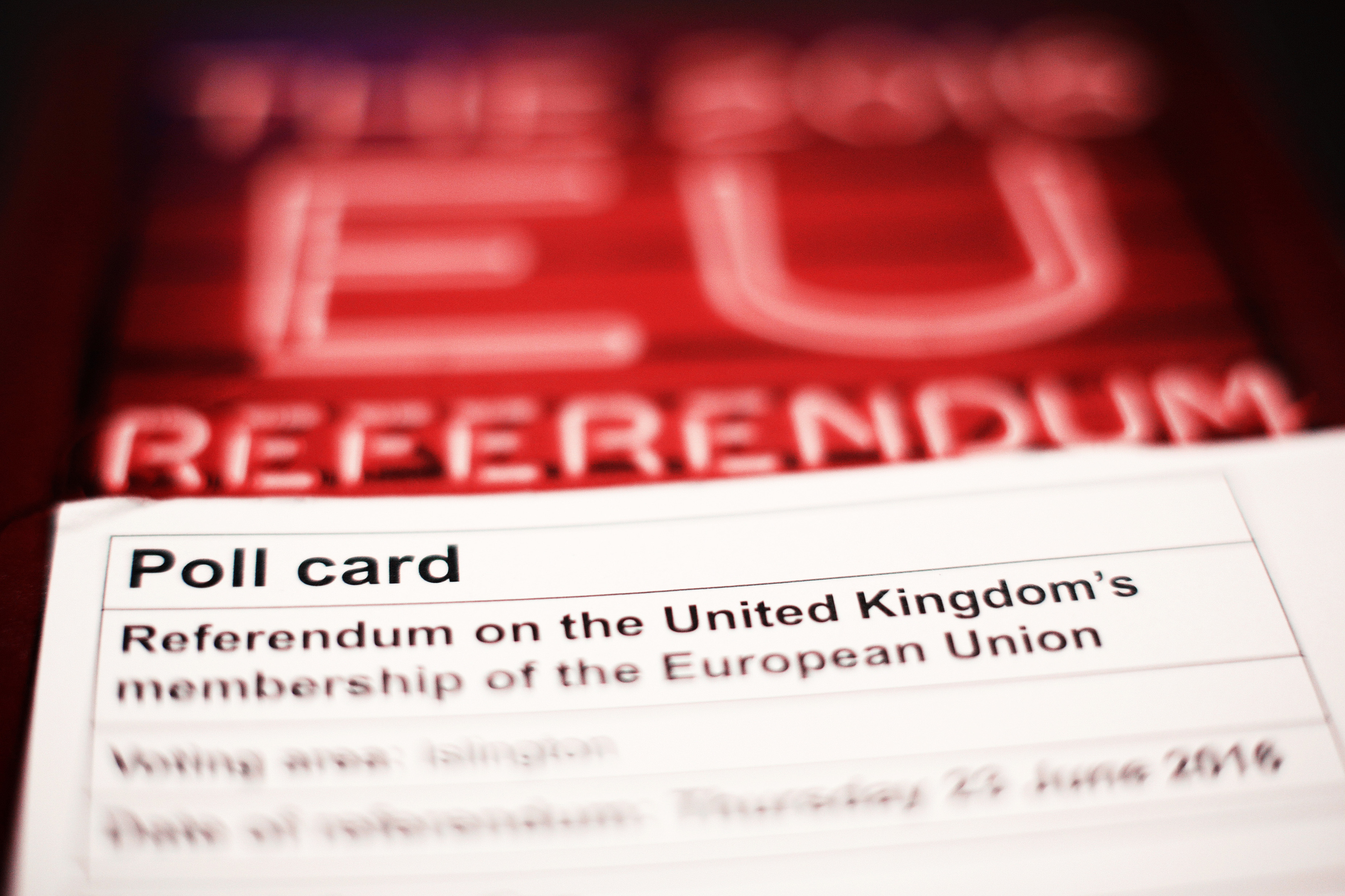 A polling card and voting guide for the 2016 EU Referendum (Yui Mok/PA Wire)