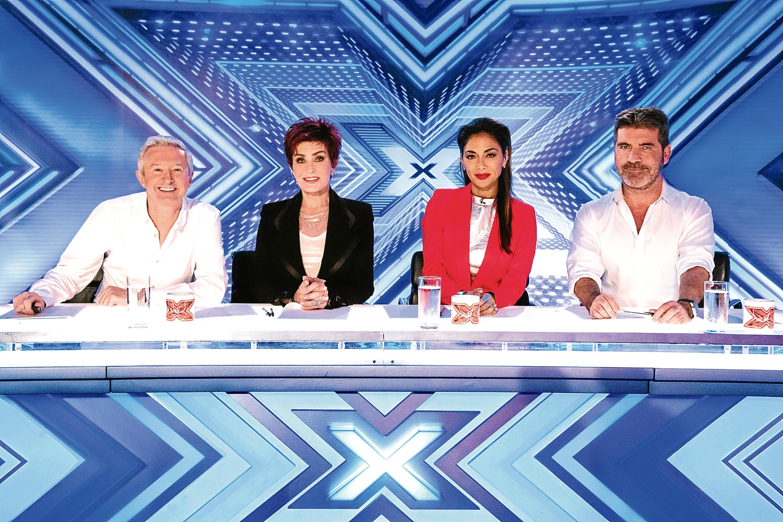 X Factor judges Simon Cowell, Nicole Scherzinger, Sharon Osbourne and Louis Walsh (SYCO/THAMES/DYMOND)