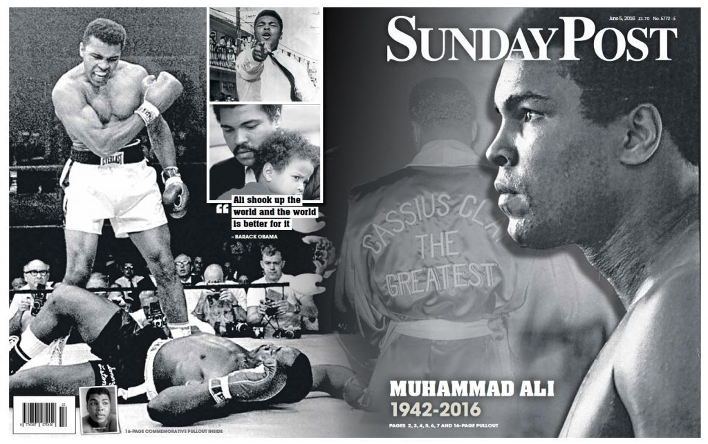 This week's Sunday Post pays tribute to Ali