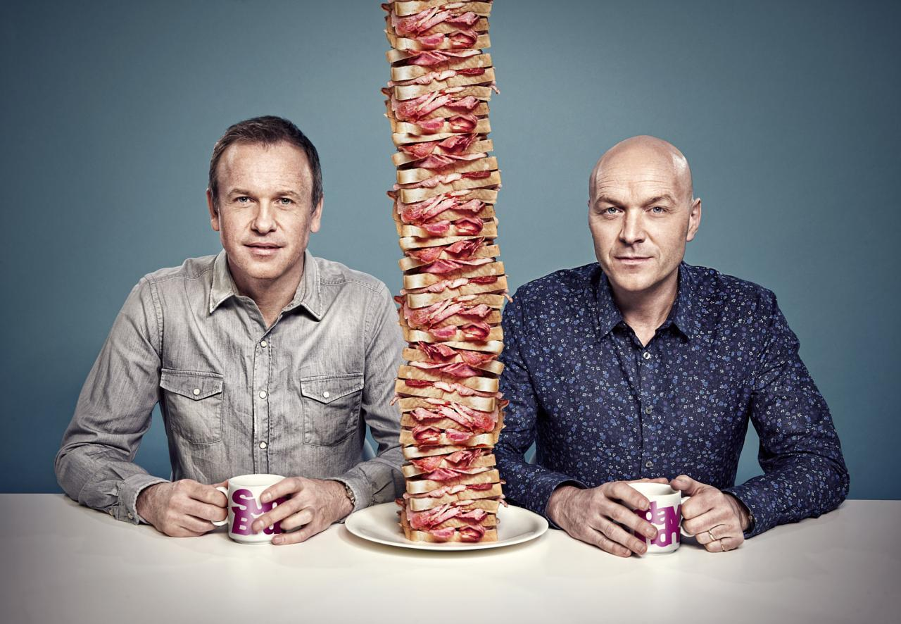 Sunday Brunch hosts Tim Lovejoy and Simon Rimmer (Channel 4)
