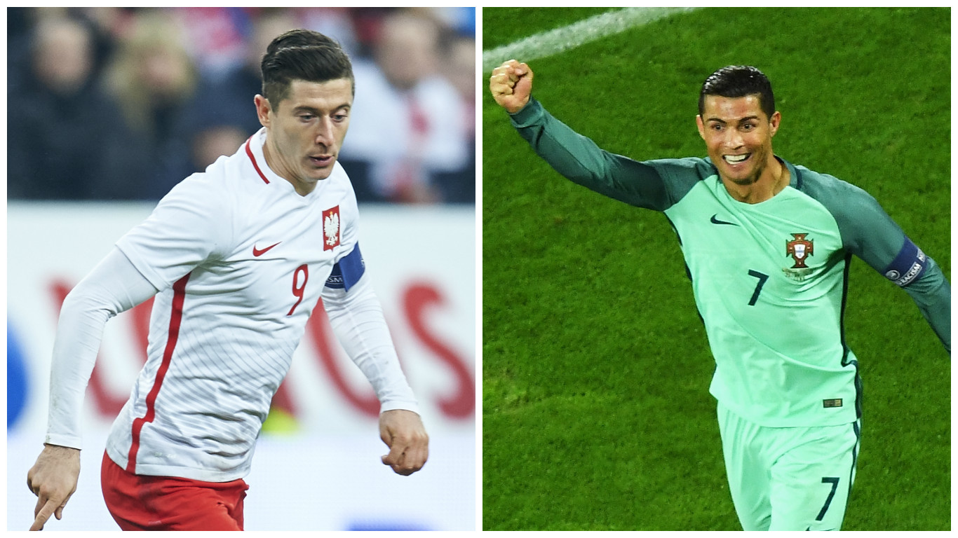 Lewandowski and Ronaldo (Adam Nurkiewicz/Getty Images & Shaun Botterill/Getty Images)
