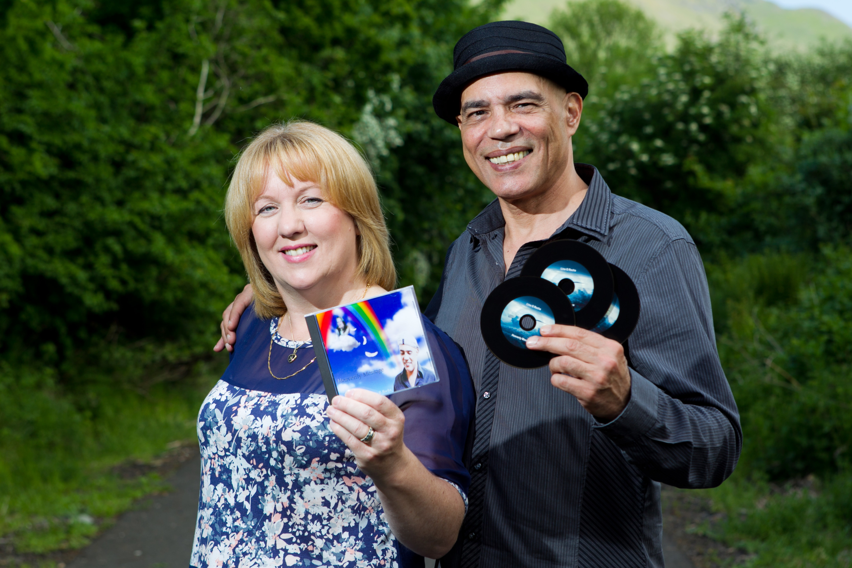 Helen Nicol with singer/producer Lino G Rocha (Andrew Cawley/Sunday Post)