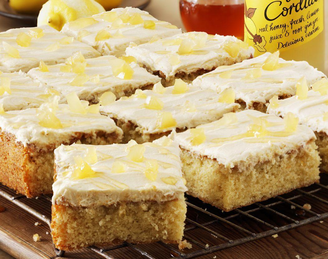 Honey, lemon and ginger traybake