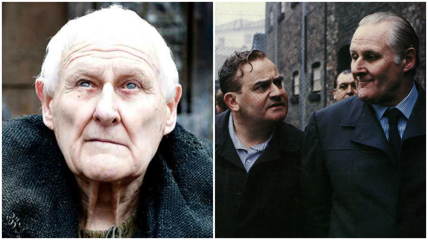 Peter Vaughan in Game of Thrones (left) and with Ronnie Barker in Porridge (Moviestore/REX/Shutterstock)