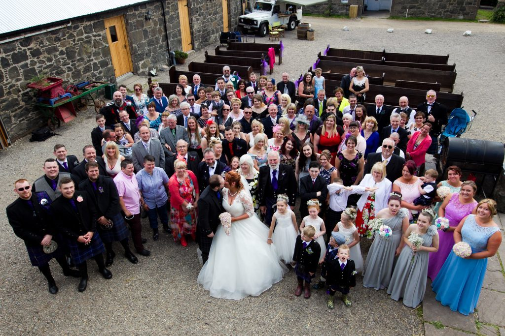 Guests at the wedding (Andrew Cawley / DC Thomson)