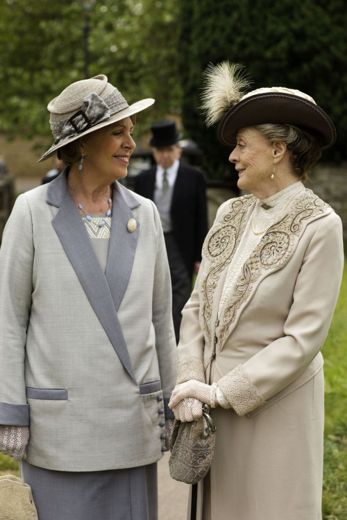 Penelope Wilton and Maggie Smith in Downton Abbe (Nick Briggs/Carnival Film &; Television Limited 2015 for MASTERPIECE via AP)