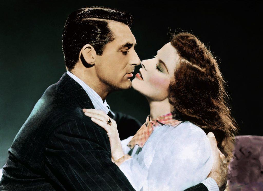 Grant and Katharine Hepburn in The Philadelphia Story, 1940 (Allstar/MGM)