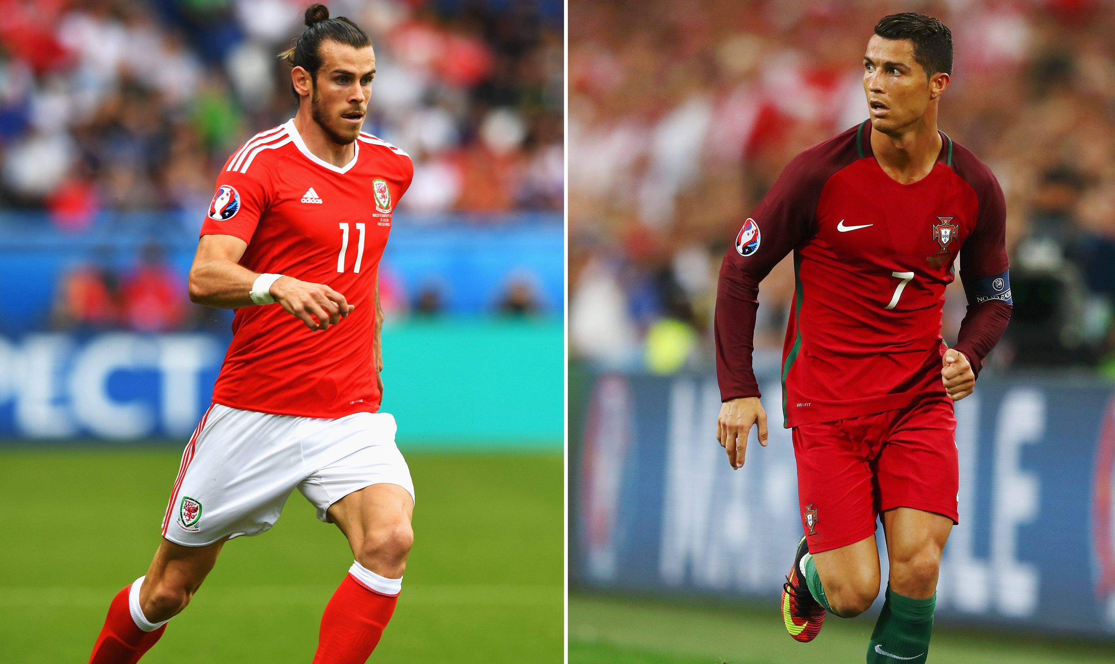 Gareth Bale (L) and Cristiano Ronaldo (Lars Baron/Getty Images)