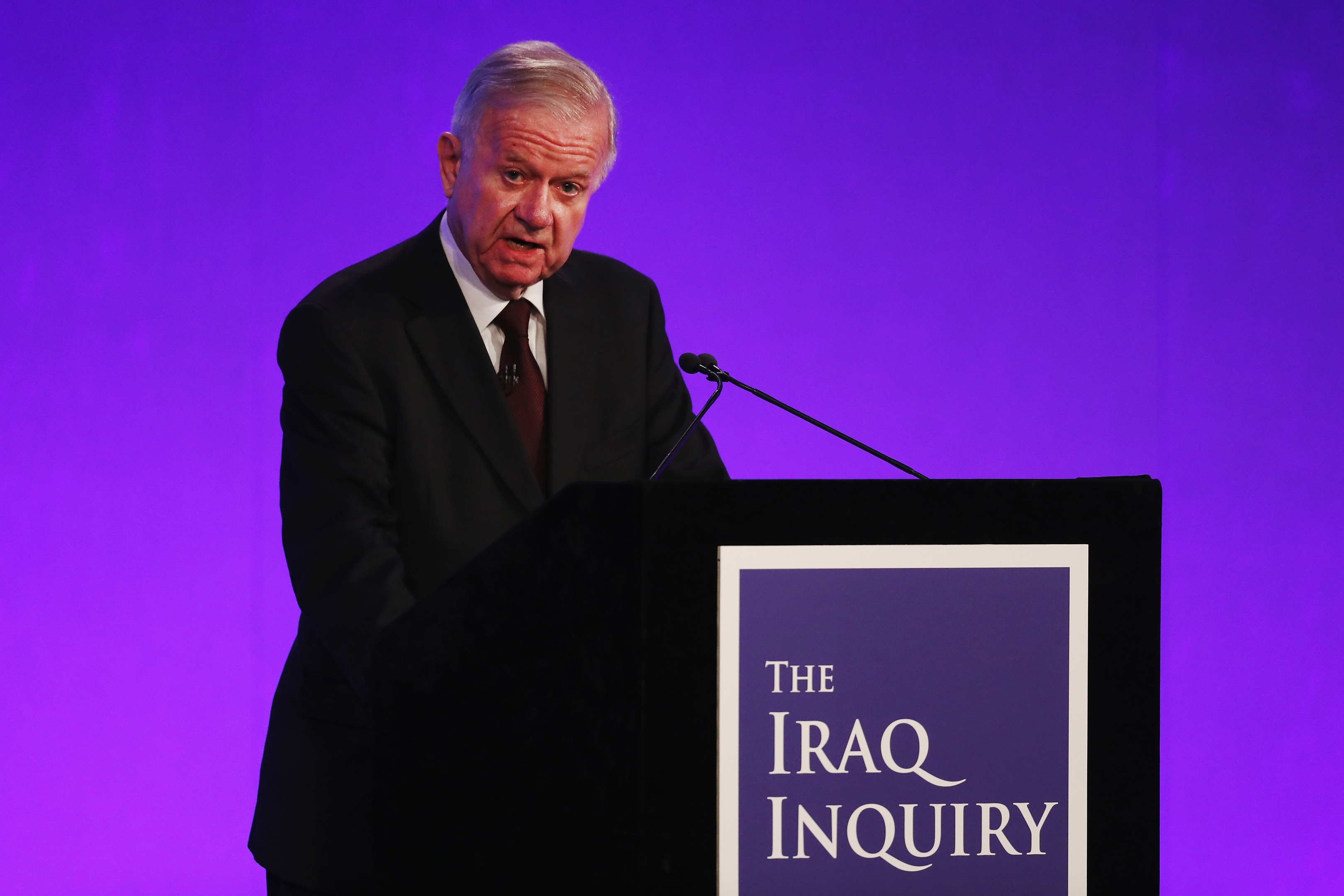 Sir John Chilcot presents the Iraq Inquiry Report (Dan Kitwood/Getty Images)