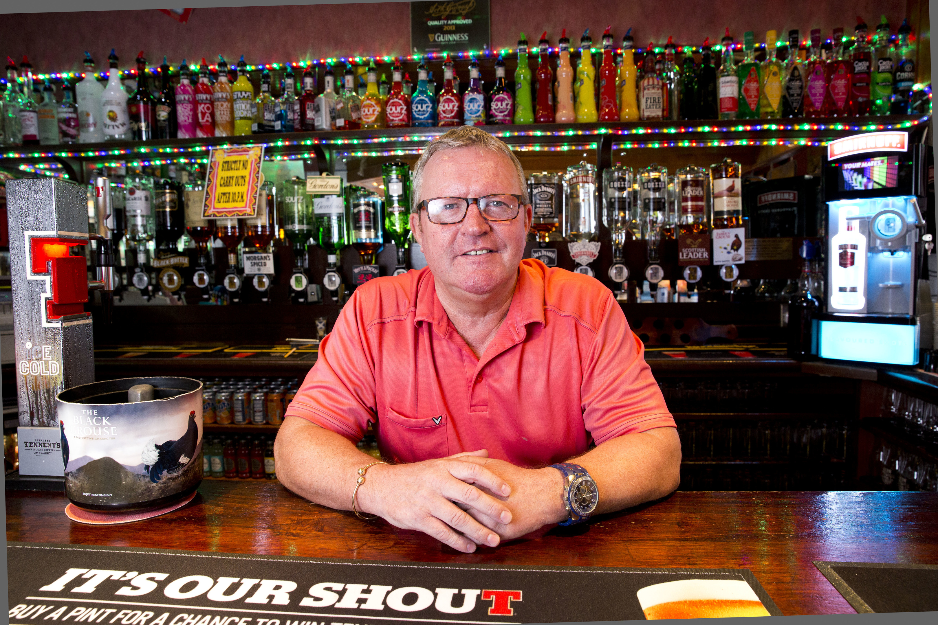 Robert McArdle manages the Clansman bar in Dunoon (James Williamson)