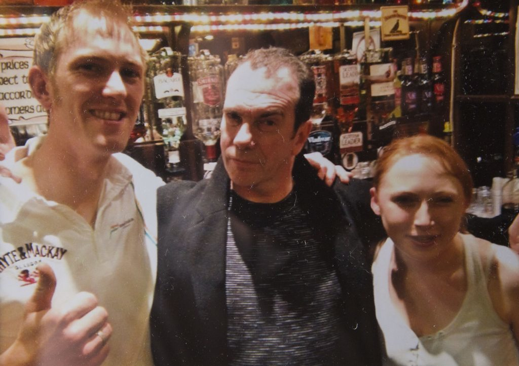 Gavin Mitchell, who plays Boaby the barman, visited the Dunoon pub