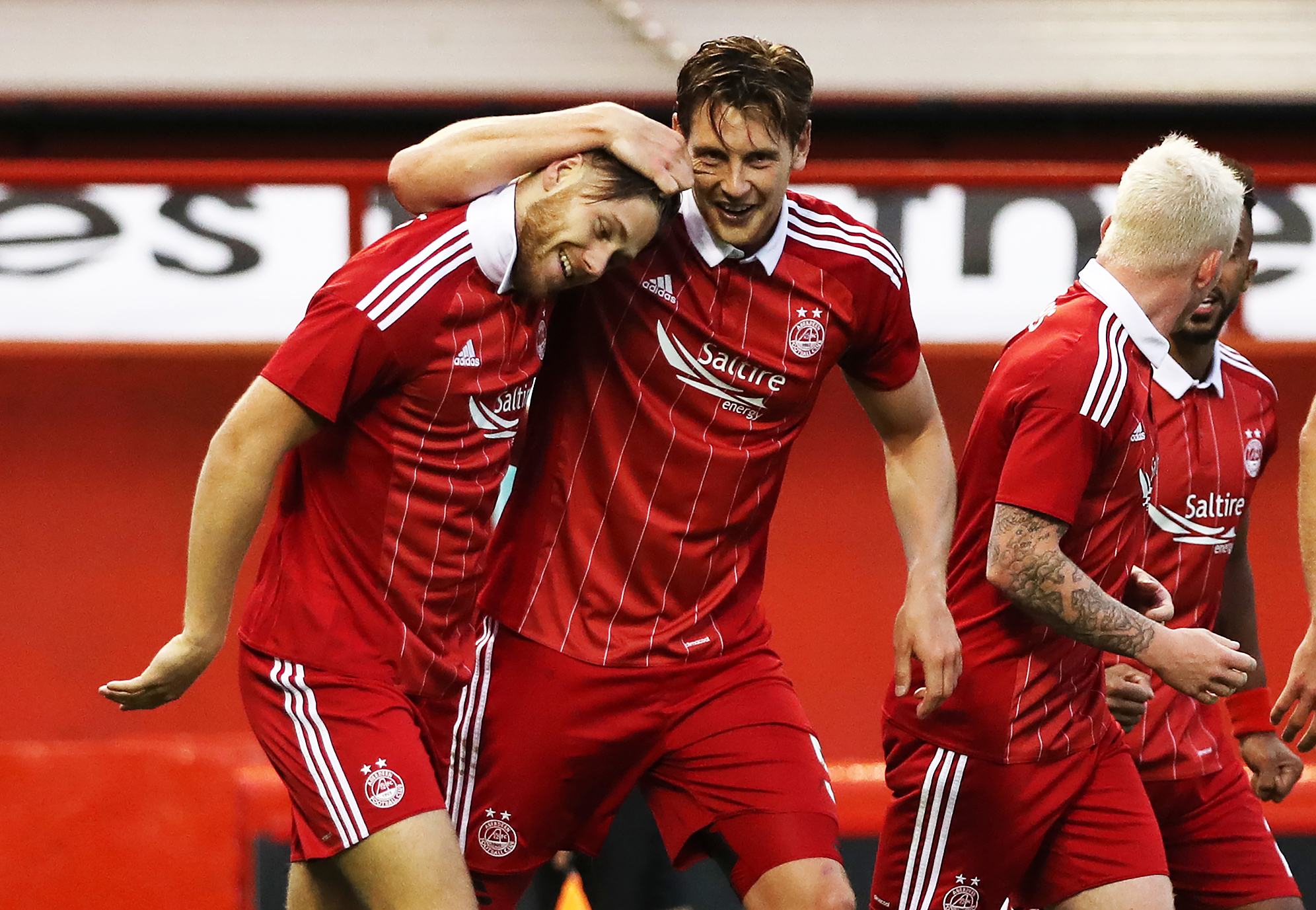 Wes Burns of Aberdeen celebrates (Ian MacNicol/Getty Images)