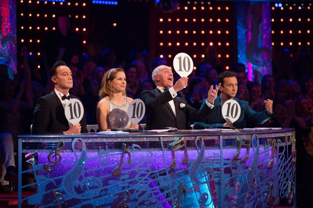 The Strictly panel (BBC / Guy Levy)