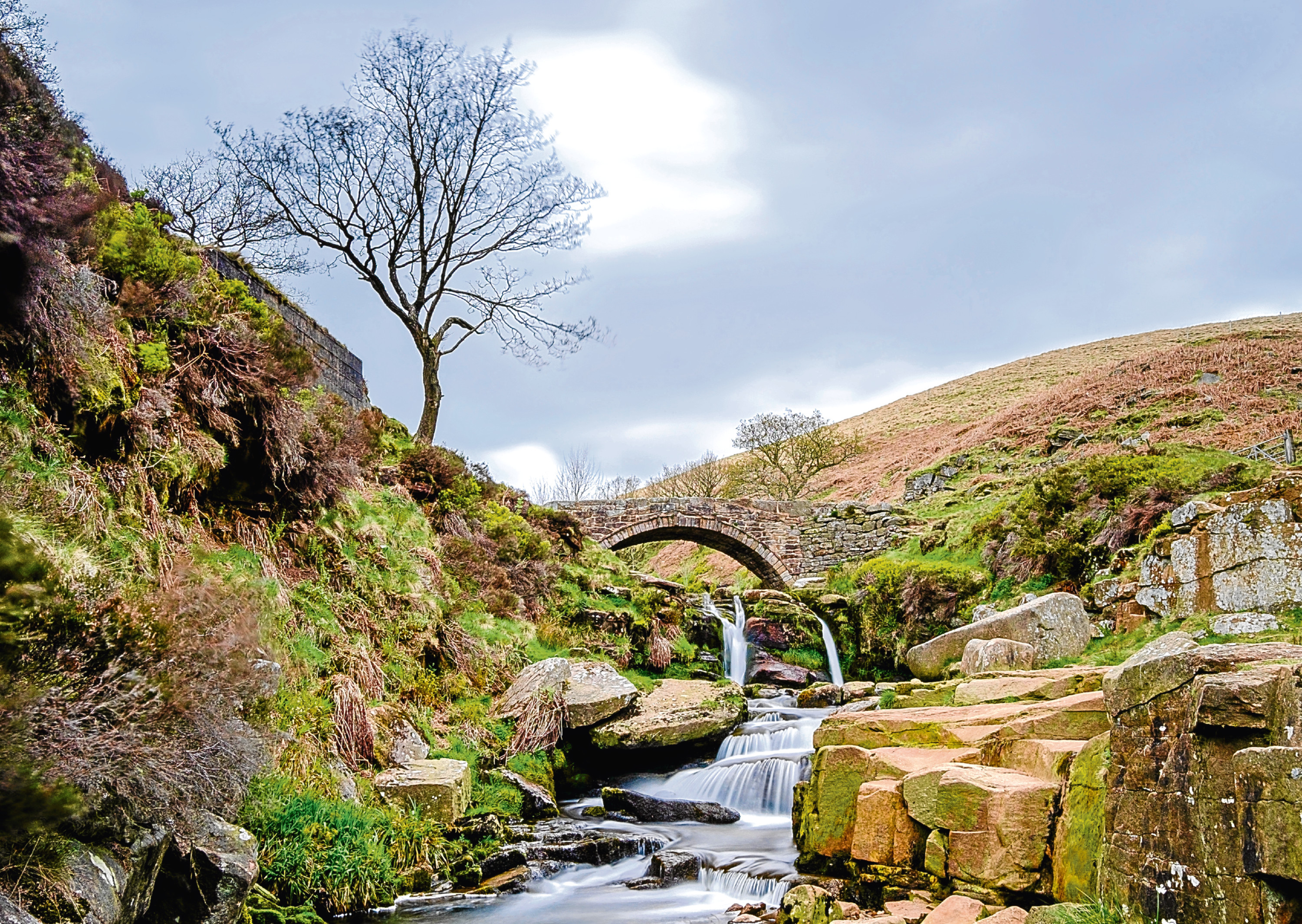 Tolkien - The Three Shires Head water fall at the meeting point of Derbyshire, Staffordshire and Cheshire