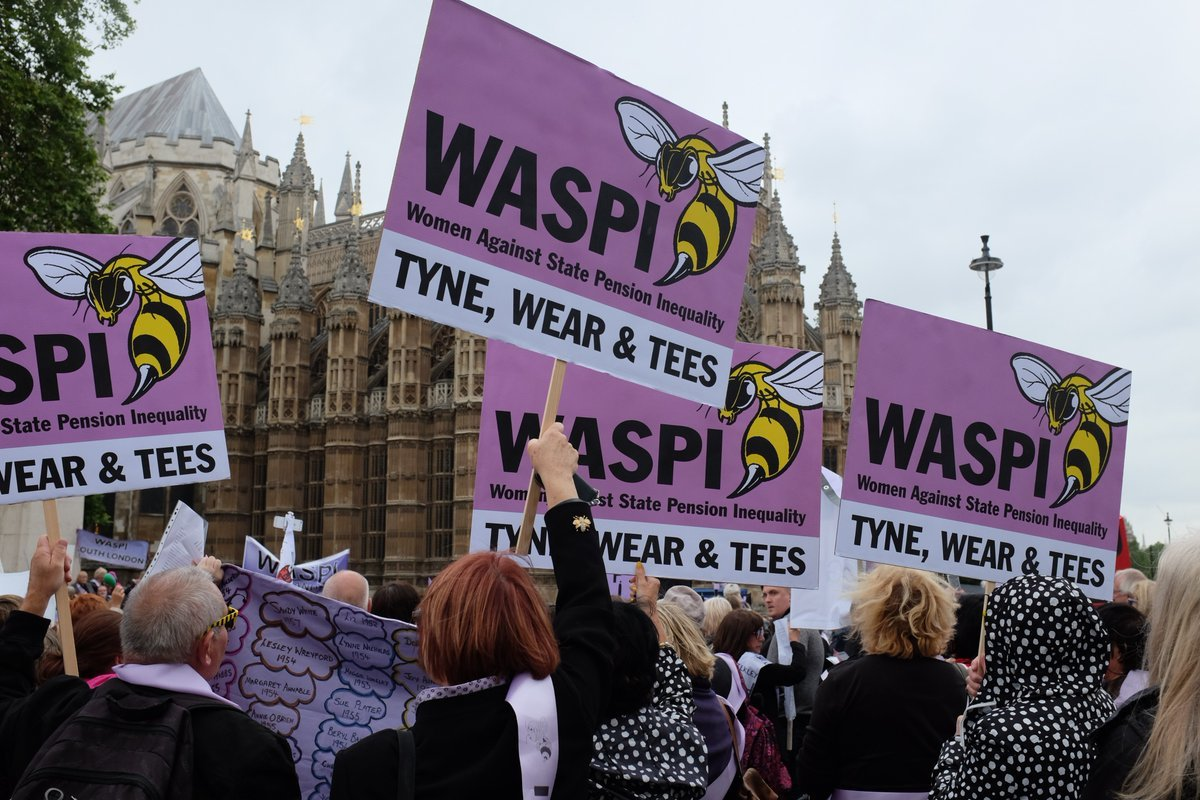 WASPI protesters