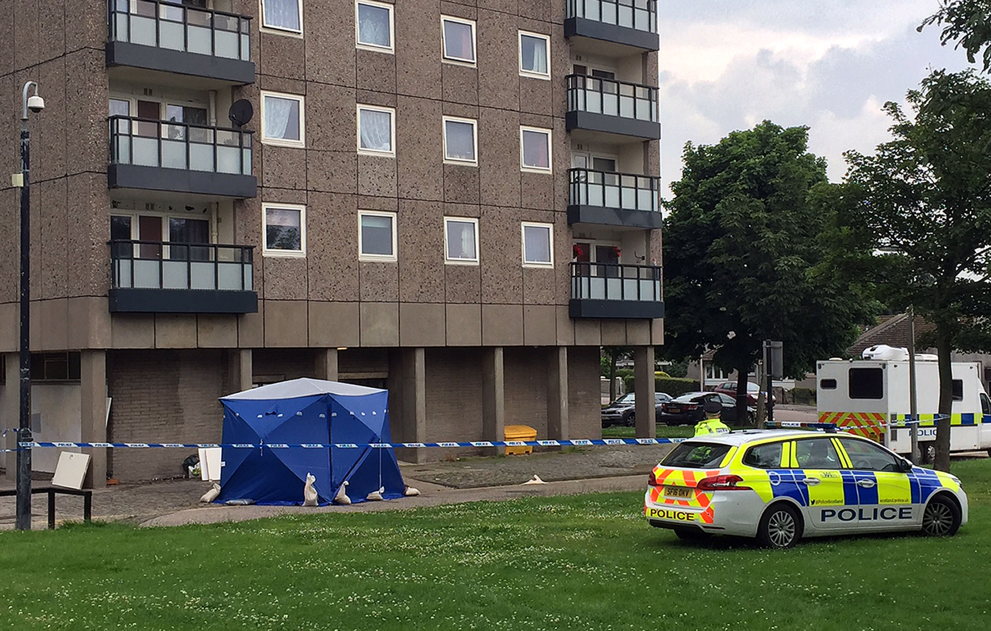 Aberdeen flat deaths in Donside Court, Tillydrone (Laura Paterson/PA)