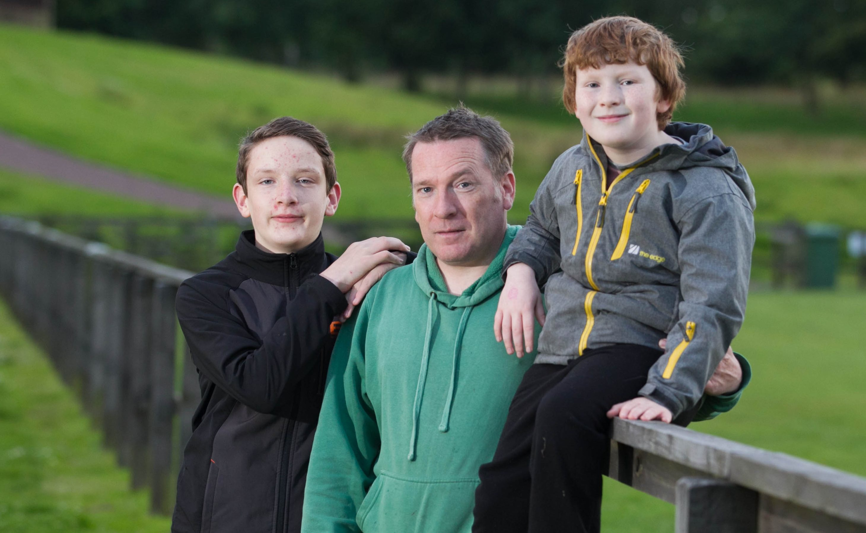 Scottish Ambulance Service paramedic Danny Kerr was shocked when he came across badly injured walker Angus MacDonald with sons Euan, 14, and Harris, 10 (Chris Austin/ DC Thomson)