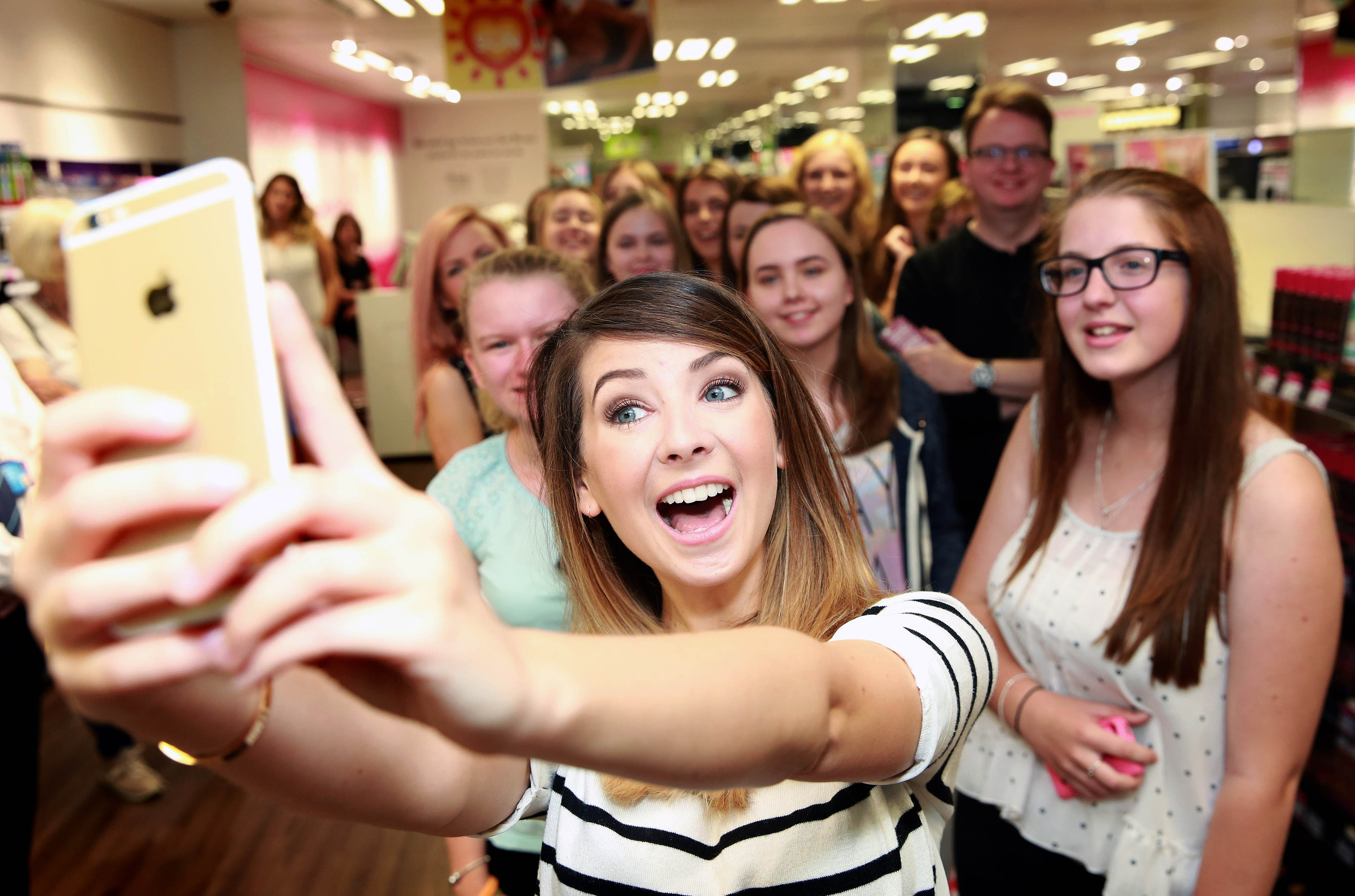 YouTube vlogger Zoella, real name Zoe Sugg, meets fans (PA Archive)