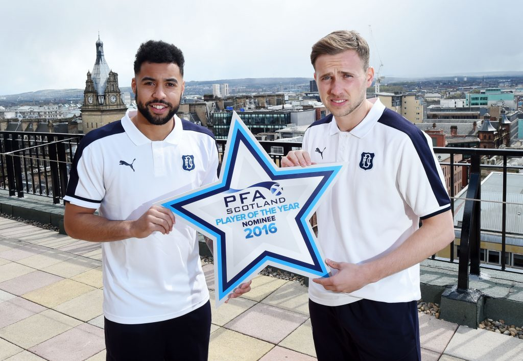 Kane Hemmings (left) and Greg Stewart were both nominated for the PFA Premiership Player of the Year award last season (SNS Group / Craig Williamson)