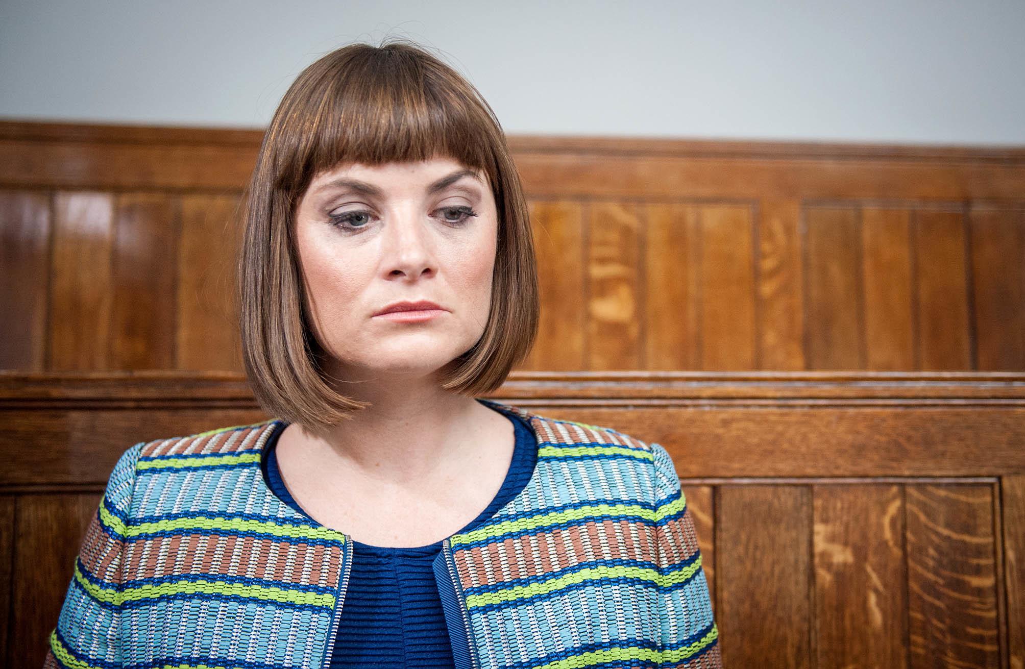 Louise as Chrissie in Emmerdale (Andrew Boyce / ITV)
