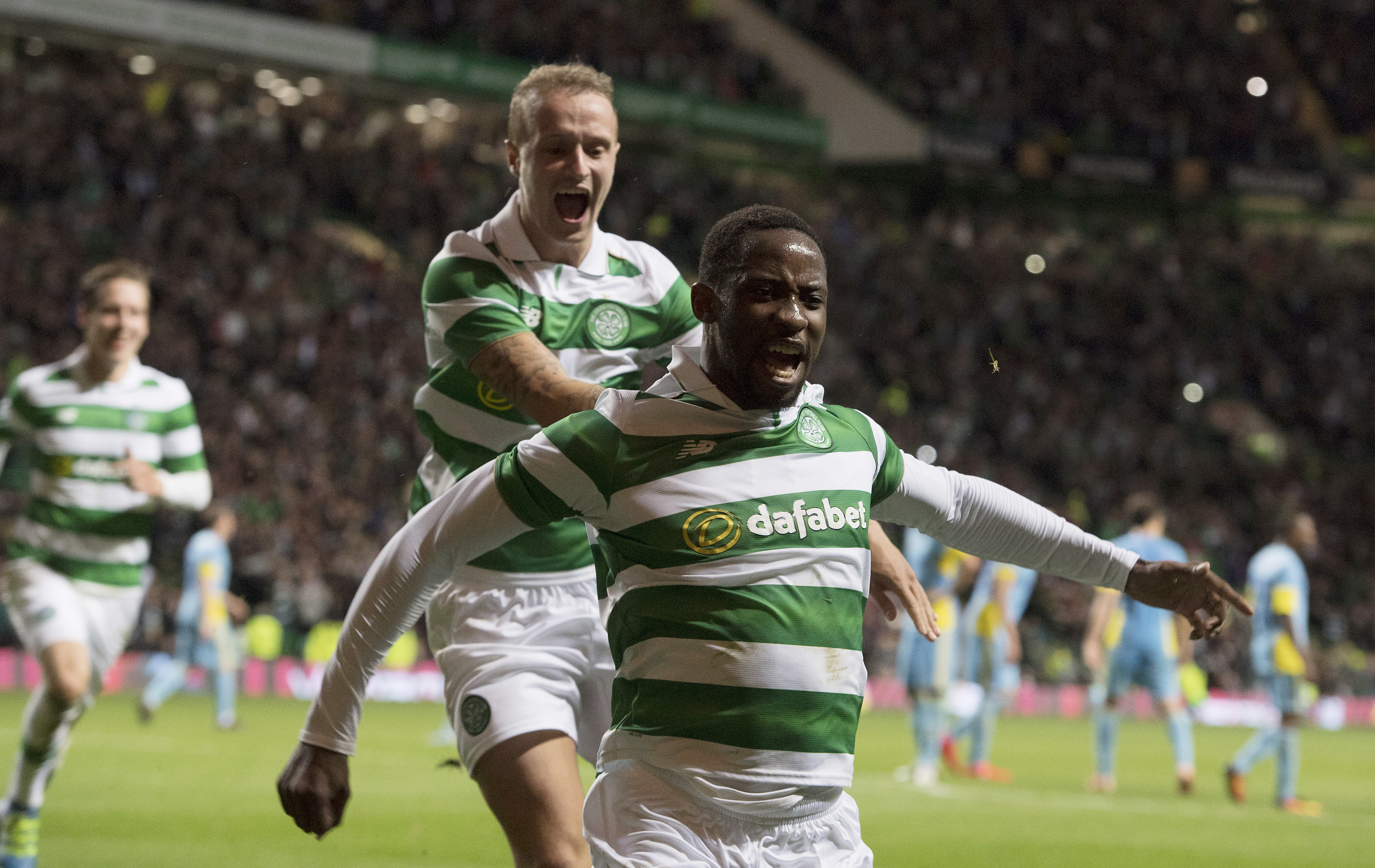 Celtic's Moussa Dembele and Leigh Griffiths (SNS Group)