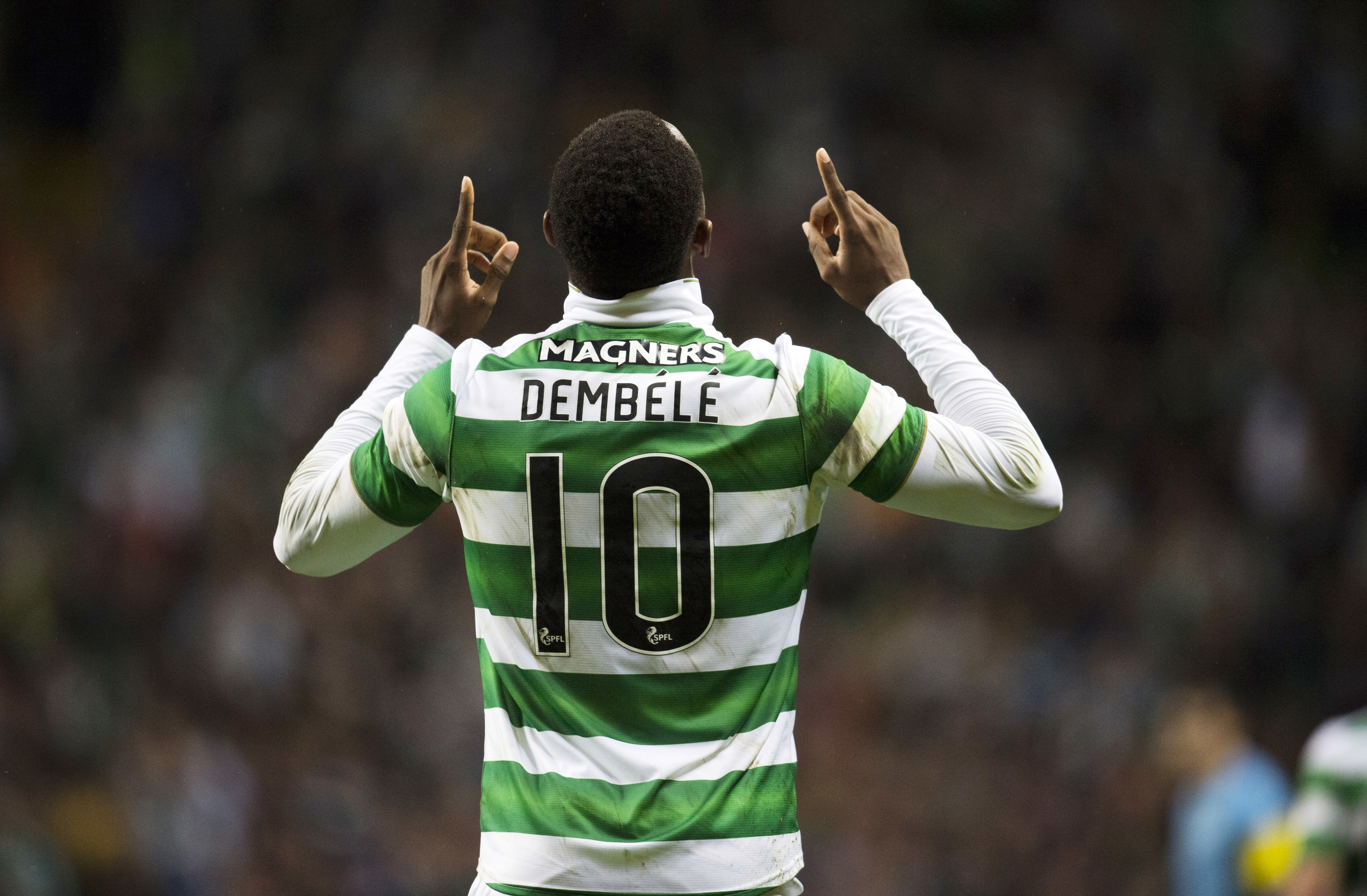 Celtic's Moussa Dembele celebrates at full time (SNS Group / Rob Casey)