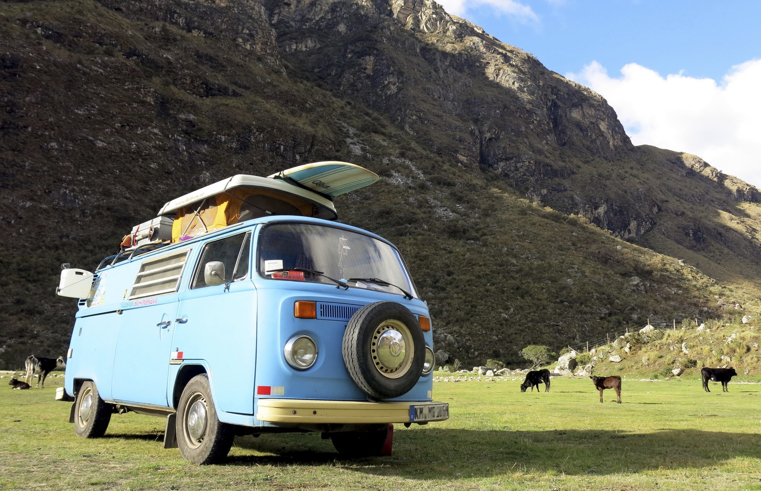 A blue VW from 1973 (Getty Images)