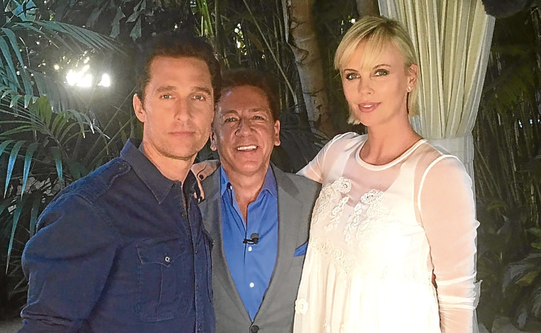 Ross King with Charlize Theron and Matthew McConaughey