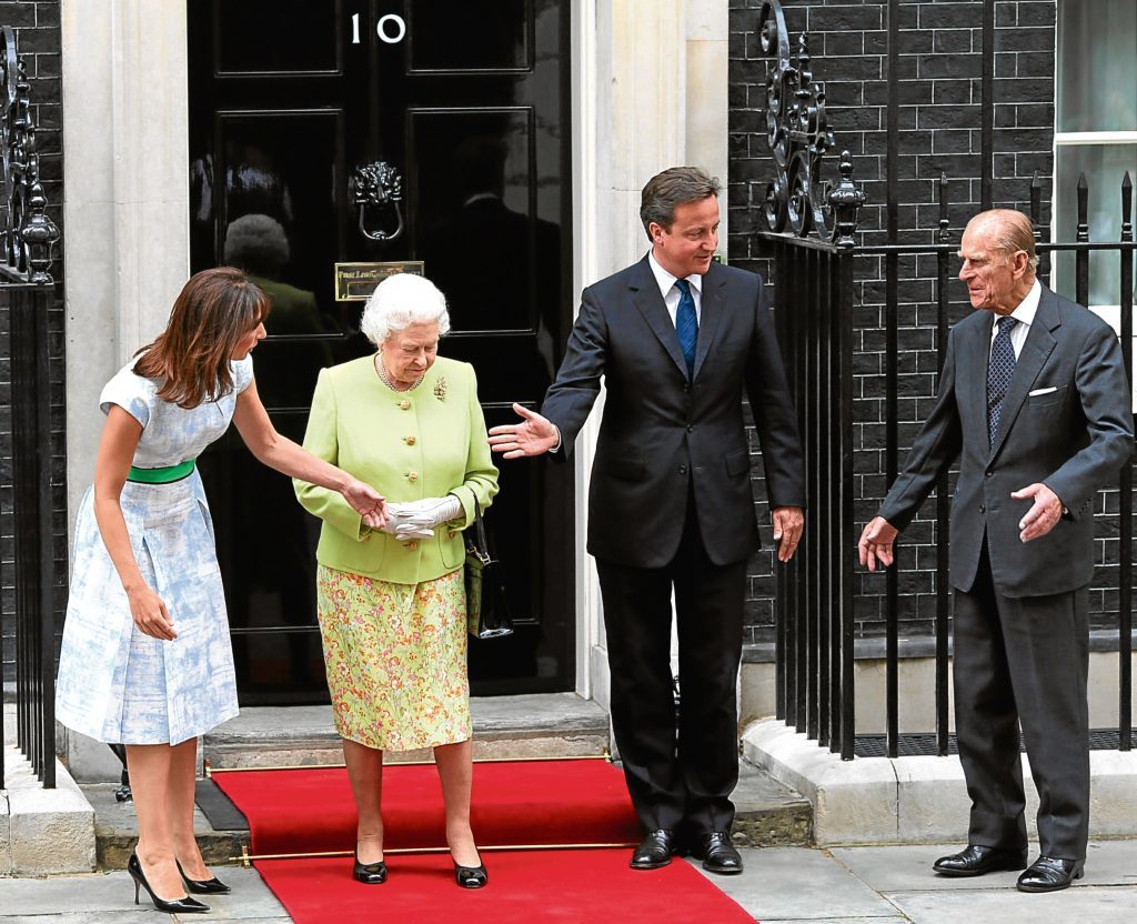 Visiting the Camerons (Gareth Fuller / PA Archive)