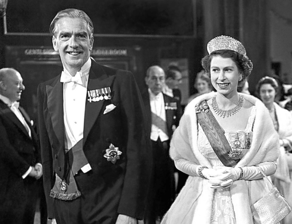 Sir Anthony Eden and the Queen, in 1955 (PA Archive)
