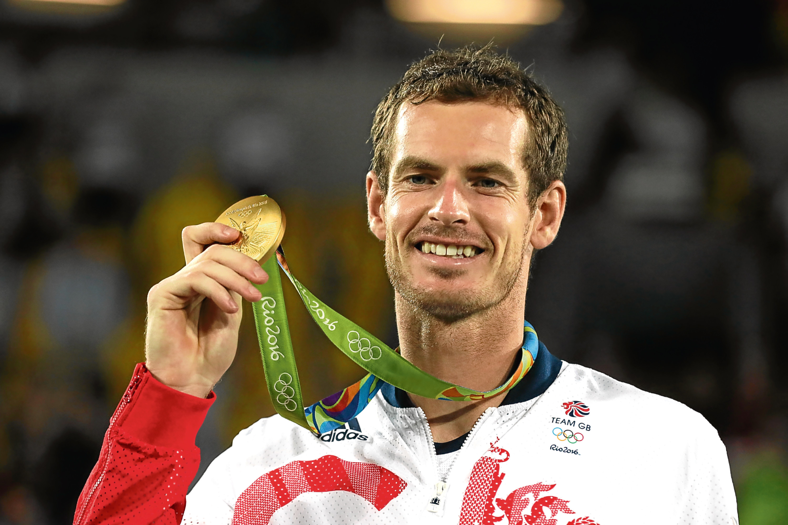 Andy Murray with his gold medal (Owen Humphreys / PA Wire)