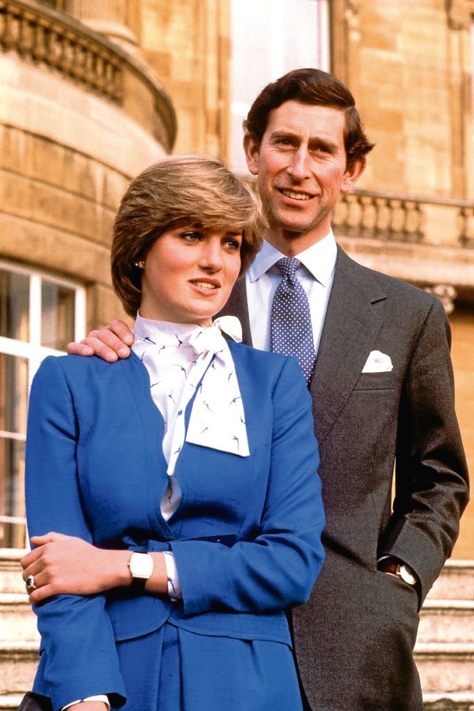 Prince Charles and Lady Diana Spencer at Buckingham Palace after the announcement of their engagement (PA Archive)