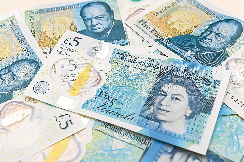 Polymer £5 note (Joe Giddens - WPA Pool/Getty Images)