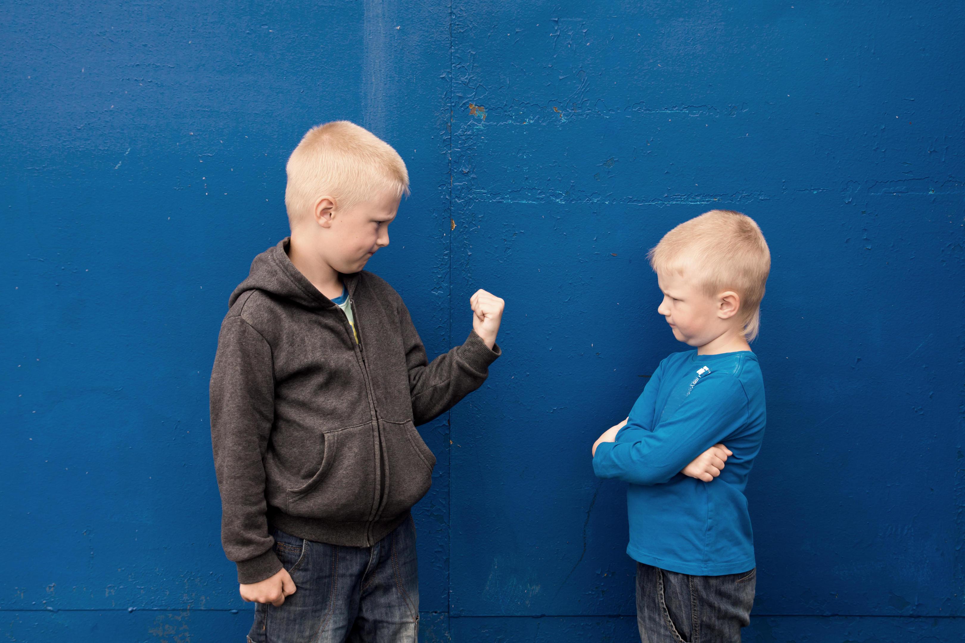 Aggressive children (Alamy)