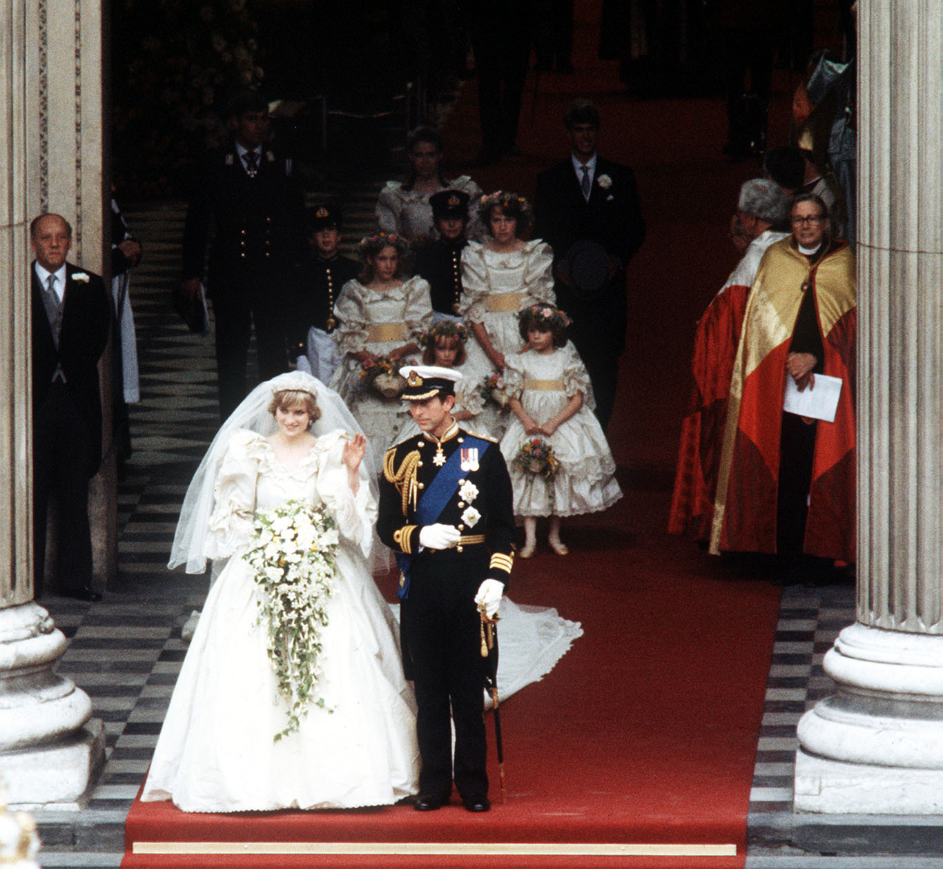 The Princess of Wales, formerly Lady Diana Spencer'S dress was designed by Elizabeth and David Emanuel