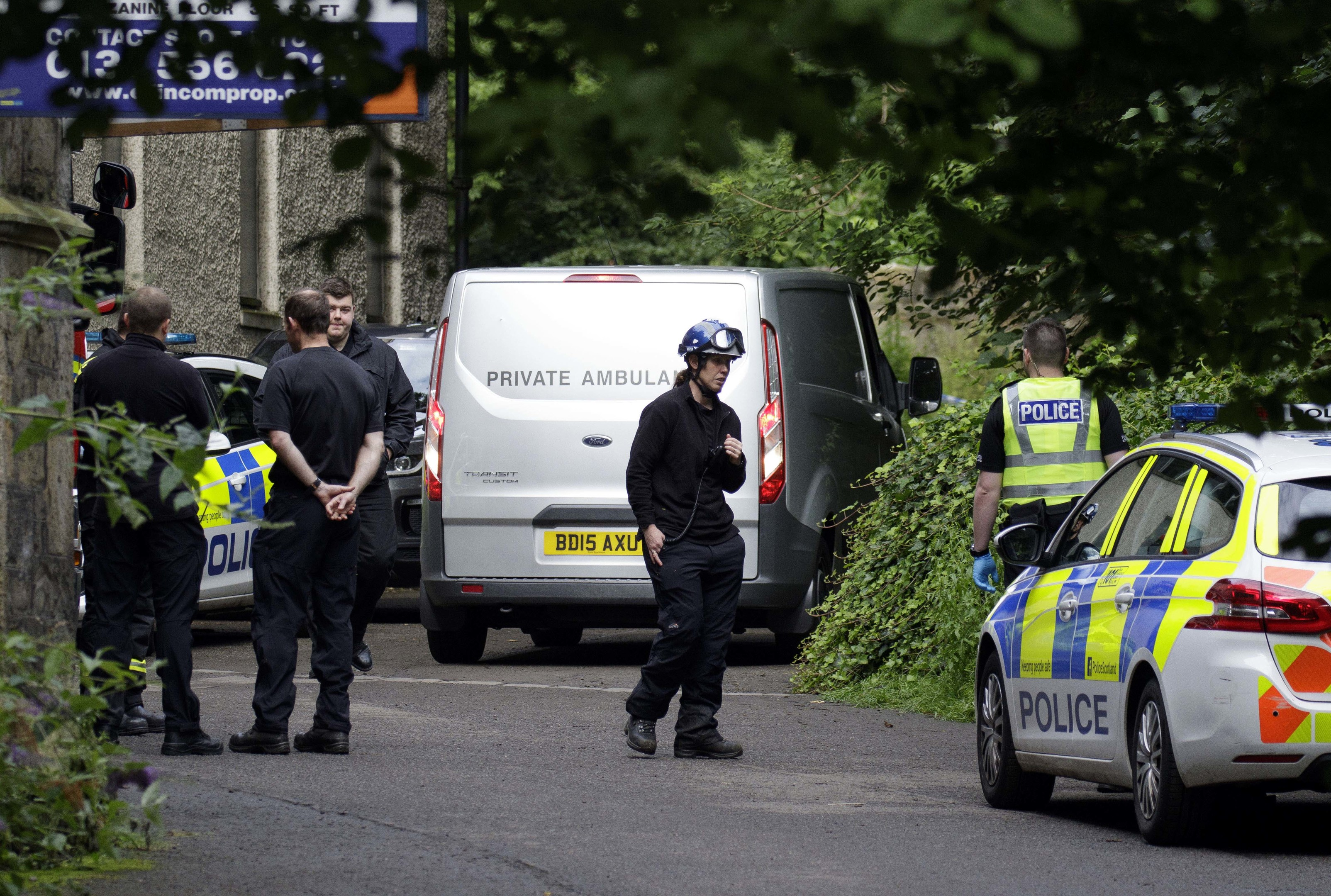 Man killed at Miller Row, Dean Village when a tree fell on his tent (Alan Simpson)