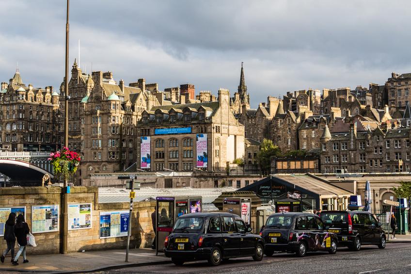 Taxis parked in Edinburgh, Scotland (Getty)