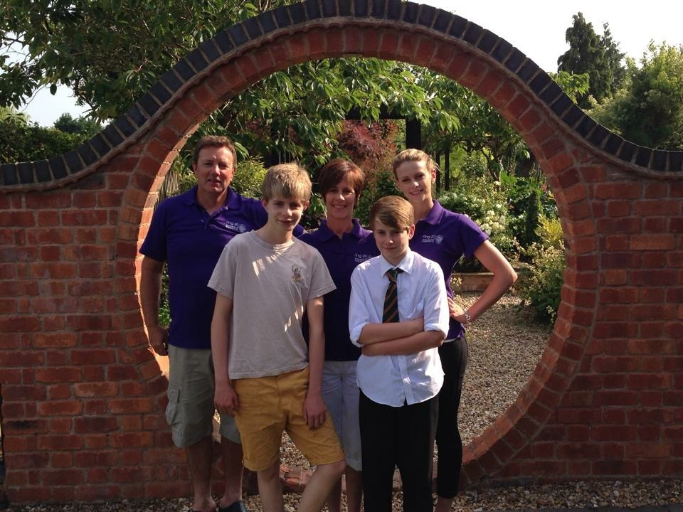 The Gray family have been fundraising together