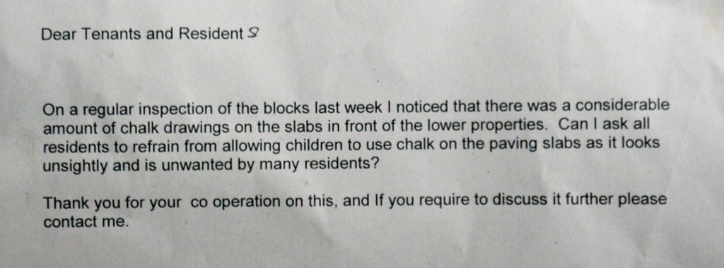 The letter from the local council (SWNS)