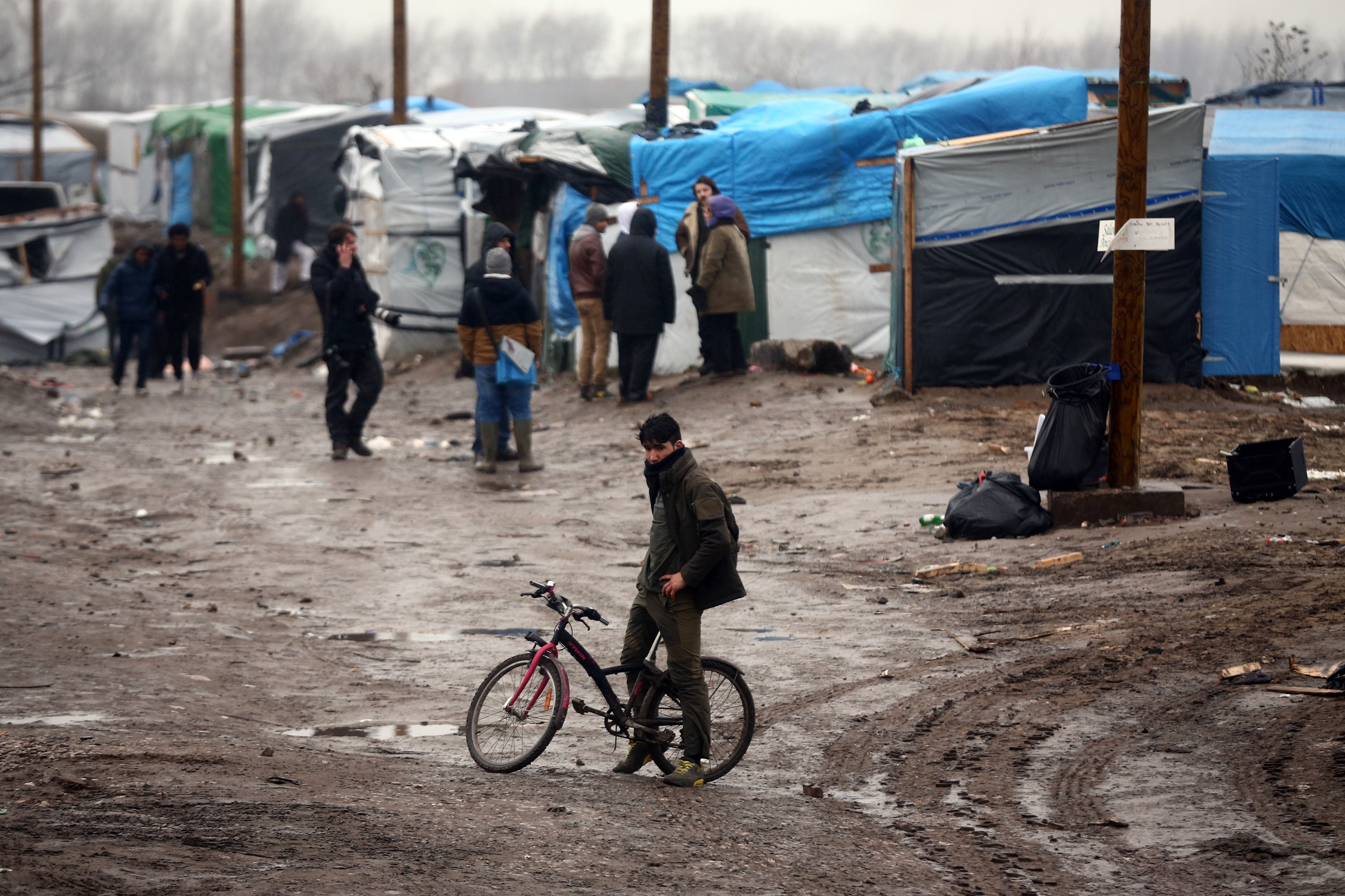 "The ""jungle"" migrant camp in Calais (Carl Court/Getty Images)"