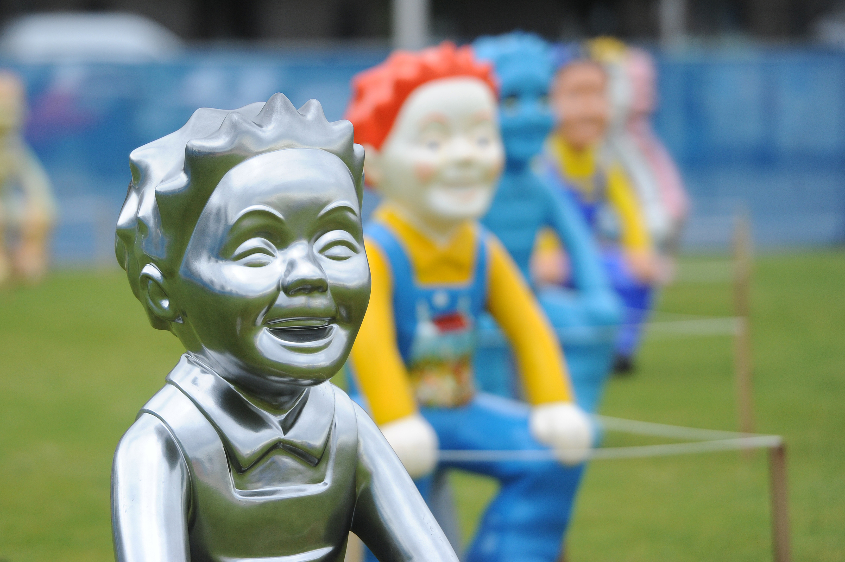 Oor Wullies in Slessor Gardens, Dundee (Kim Cessford / D C Thomson)
