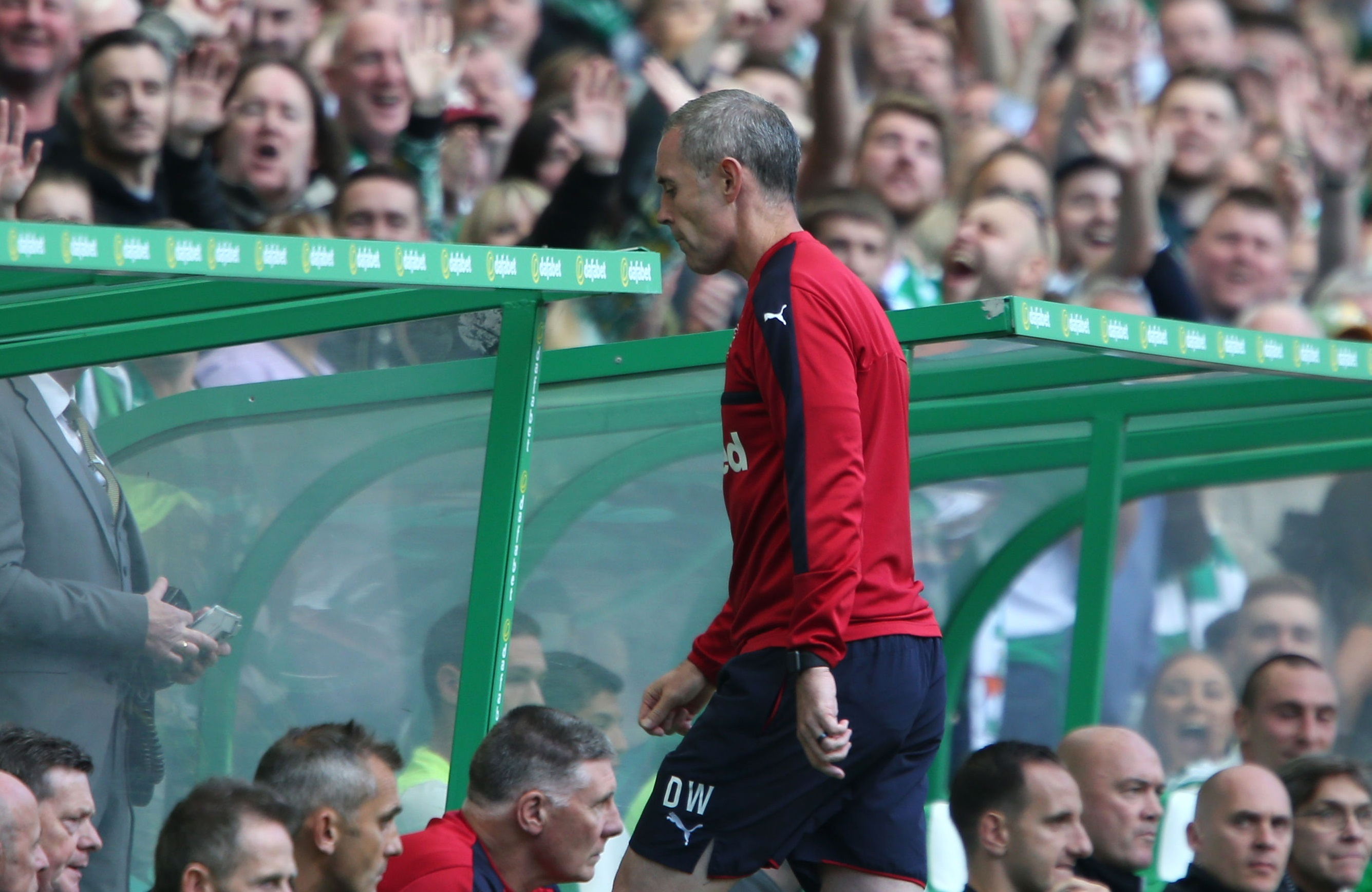 Rangers assistant manager David Weir is sent to the stand (Andrew Milligan/PA Wire)
