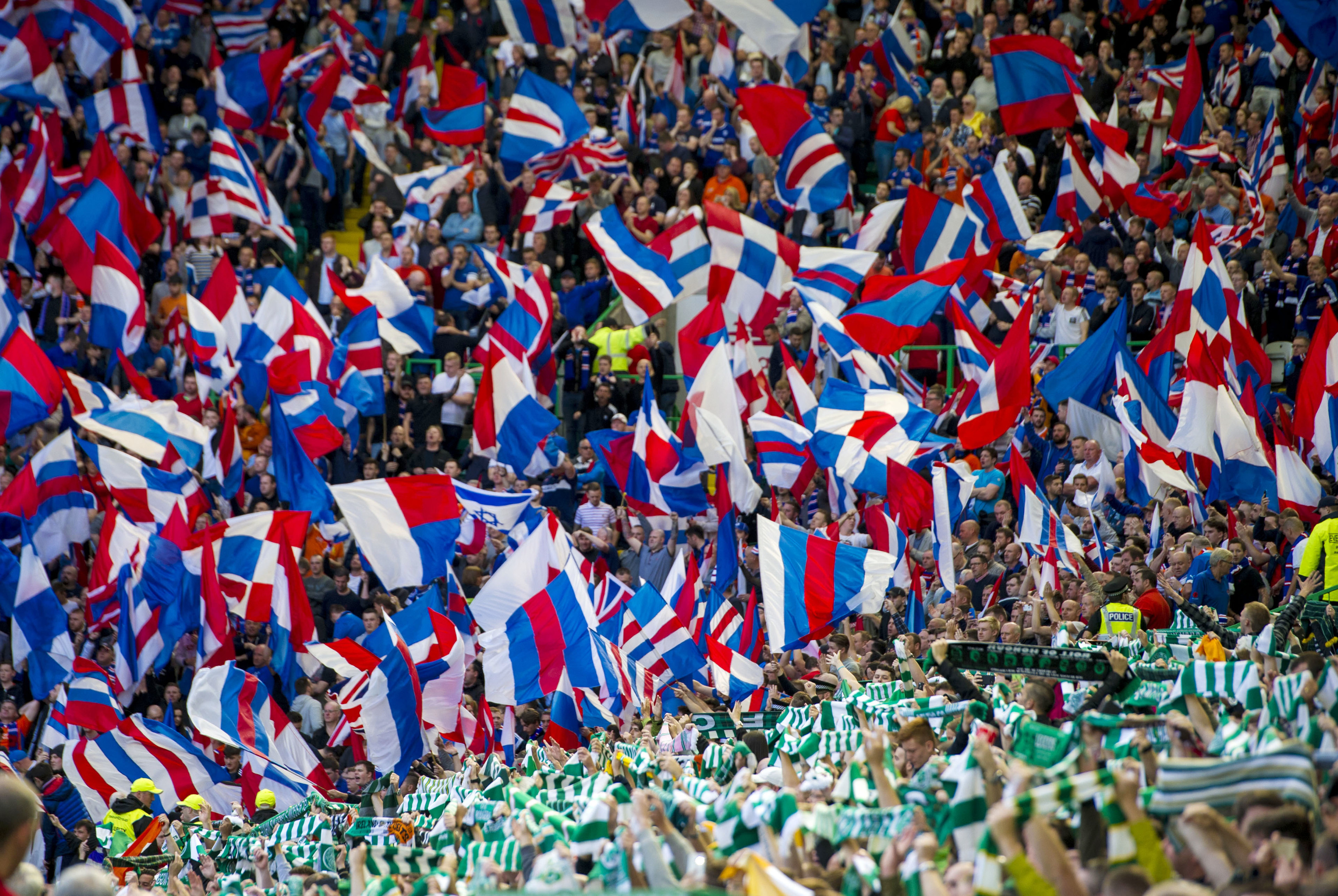 Celtic and Rangers fans (SNS Group / Sammy Turner)